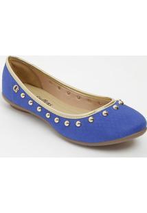 Sapatilha Com Rebites- Azul & Douradacarmen Steffens