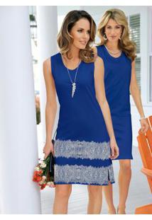 Vestido De Malha Embalagem Com 2 Unidades Azul