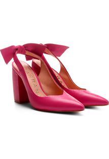 Scarpin Couro Carrano Salto Alto Chanel - Feminino-Pink
