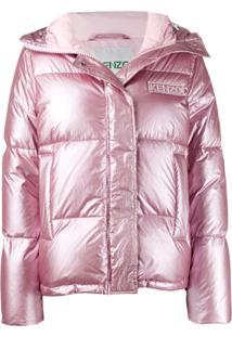 Kenzo Padded Logo Jacket - Rosa