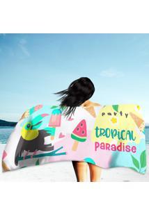 Toalha De Praia / Banho Tropical Paradise