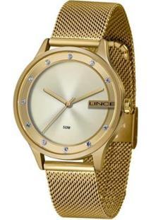 Relógio Lince Clássico Feminino - Feminino-Dourado