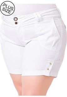 Short Jeans Plus Size - Confidencial Extra Médio Com Elastano