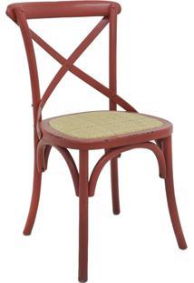 Cadeira De Madeira Katrina -Rivatti - Vermelho