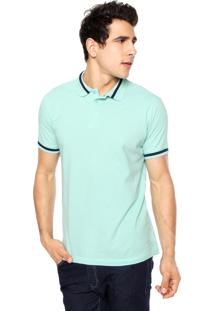 Camisa Polo Colcci Brasil Verde/Azul-Marinho