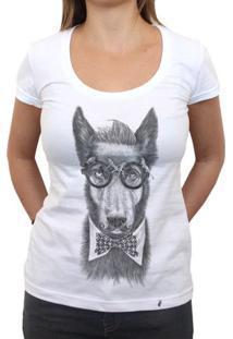 Hipster Dog - Camiseta Clássica Feminina