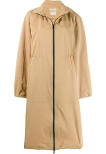 Bottega Veneta Trench Coat Longo - Marrom