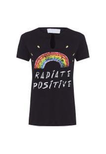 Camiseta Feminina Saturday - Preto