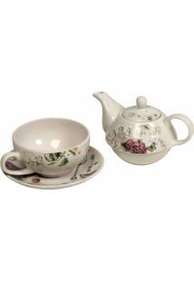 Conjunto De Chá Decorativo De Porcelana Nabeul