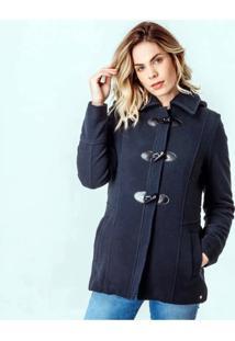 Casaco Térmico Feminino Chamonix Em Lã Premium Com Capuz Removível