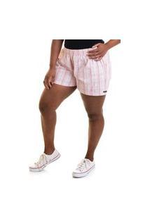 Short Feminino Plus Size Sarja Fio Tinto 51838
