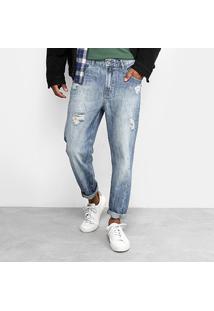 Calça Jeans Reta Ellus Geek Rasgos Stone Masculina - Masculino-Jeans