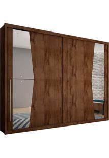 Guarda-Roupa Casal Com Espelho Geom 2 Pt Canela