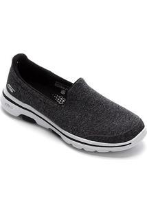 Tênis Skechers Go Walk 5-Super Sock Feminino - Feminino-Preto+Branco
