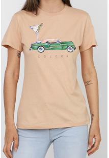 Camiseta Colcci Estampada Bege