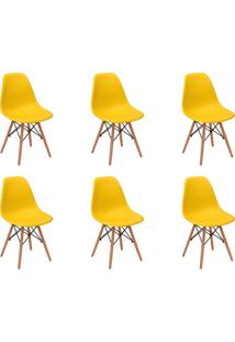 Cadeira E Banco De Jantar Impã©Rio Brazil Charles Eames Eiffel - Amarelo/Incolor - Dafiti