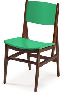 Cadeira Dumon Cacau E Verde Anis
