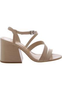 Sandália Block Heel Straps Cream   Schutz