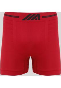 Cueca Boxer Masculina Sem Costura Ace Vermelha