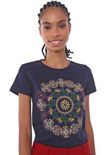 Camiseta Desigual Annette Azul-Marinho