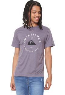 Camiseta Quiksilver Rainbow Block Cinza