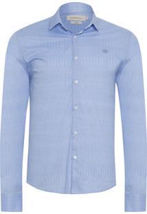 Camisa Masculina Estampa Rain - Azul