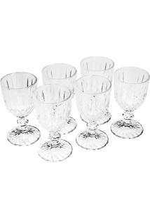 Conjunto 6 Taças Para Vinho De Vidro Imperial 245Ml Bon Gourmet