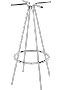 Base Para Mesa Pedestal De Bar Pp010-Pozza - Cromado