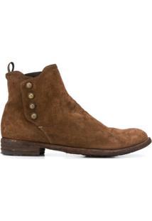 Officine Creative Ankle Boot Lexicon Com Salto 30Mm - Marrom