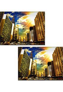 Jogo Americano Colours Creative Photo Decor - Avenida Paulista Em São Paulo, Sp - 2 Peças