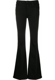 J Brand Calça Jeans Flare Cintura Alta Valentina - Preto