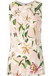 Dolce & Gabbana Blusa Regata Com Estampa Floral - Rosa