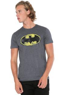 Camiseta Sideway Dc Comics Manga Curta Batman Grafite