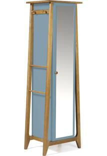Armário Multiuso 1 Porta Stoka 981 Nogal/Azul Serenata - Maxima