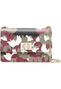 Furla Floral-Print Shoulder Bag - Verde
