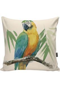 Capa Para Almofada Fauna- Verde Claro & Amarela- 45Xstm Home