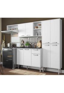 Cozinha Compacta Xangai 9 Portas Multimã³Veis Branco Branco - Branco - Dafiti