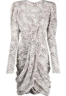 Isabel Marant Vestido Slim Com Franzido - Neutro