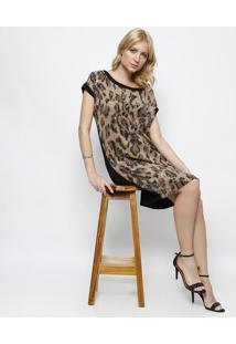 Vestido Animal Com Paetãªs - Marrom & Pretosimple Life