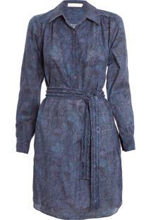 Vestido Acid Rain - Azul