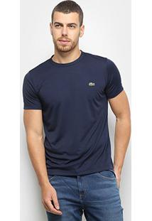 Camiseta Lacoste Básica Masculina - Masculino-Marinho