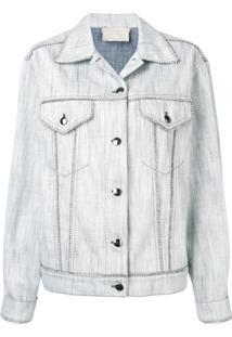 Marco De Vincenzo Classic Denim Jacket - Branco