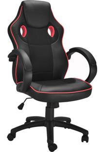 Cadeira Gamer Starter Preta E Vermelha
