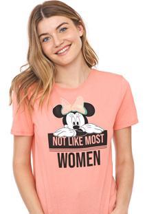 Blusa Cativa Disney Paetês Minnie Rosa
