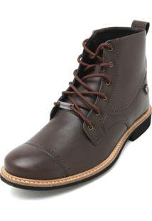 Bota Coturno Mr Kitsch Lisa Marrom