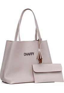 Bolsa Dhaffy Saco + Necessaire Feminina - Feminino-Branco