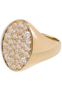 Dru Anel Galaxy De Ouro 14K Com Diamante - Metallic