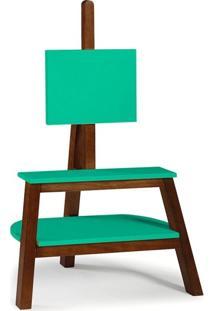 Rack Bowie Cacau E Verde Claro 81 Cm