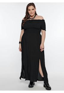 Vestido Plus Size Preto Cigana