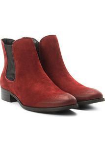 Bota Couro Chelsea Shoestock Nobuck Feminina - Feminino